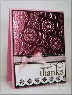 Card by Lee Murphy (092113) designer's site http://www.luvleestamper.blogspot.com/ [embossing on foil]