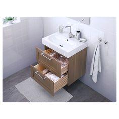 IKEA   GODMORGON / BRÅVIKEN Sink Cabinet With 2 Drawers Walnut Effect