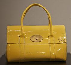 Yellow clay purse.