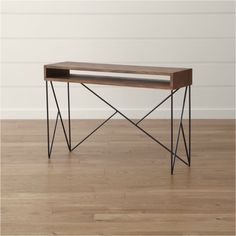 Shop Dixon Console Table.   Constructed of suar wood, the console table offers open shelving for storage or cord management of media and other electronics while adding lightness to the look.