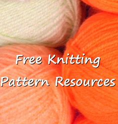 Free knitting pattern resources – Snappy Living  I put together this link collection because when you search for