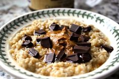 A healthy treat with a little sweet! #oatmeal #healthy #darkchocolate #camillelavie