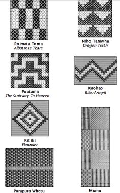 taniko patterns and meanings Flax Weaving, Weaving Art, Weaving Patterns, Tablet Weaving, Maori Designs, Maori Patterns, Hawaiian Crafts, Pattern Meaning, Polynesian Art