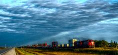 Westbound Freight Trail along the Trans Canada Highway in Eastern Manitoba Trans Canada Highway, Trail, Clouds, Outdoor, Life, Outdoors, Outdoor Games, Cloud