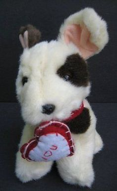 "7"" VALENTINE Puppy Dog I Love You Heart Plush TB TRADING Stuffed Toy"