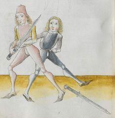 Lecküchner, Hans: Kunst des Messerfechtens Nordbayern, 1482 Cgm 582 Folio 178