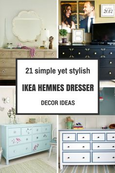 A combination of nice ideas to use IKEA HEMNES dresser plain or modified in decorating different rooms.