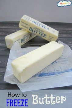 How to freeze butter couldn't be any easier! Keep the butter in your freezer for baking and other recipes!