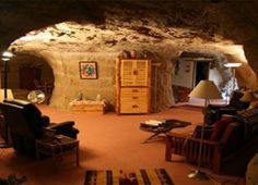 Sleep in a luxury cave! Kokopelli's Cave Bed & Breakfast in Farmington, New Mexico, offers individual cave grottoes cut into the cliffside overlooking Mesa Verde National Park.