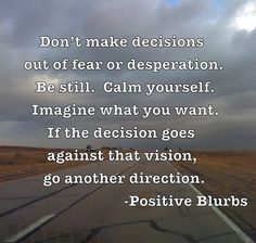 Decisions- Positive Blurbs - New Posters