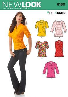New Look - 6150 patroon tricot top | Naaipatronen.nl | zelfmaakmode patroon online