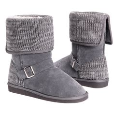 Women's Muk Luks Women's Chelsea Boots6/Grey ($32) ❤ liked on Polyvore featuring shoes, boots, boots & booties, grey, grey shoes, grey boots, muk luks shoes, gray boots and gray shoes
