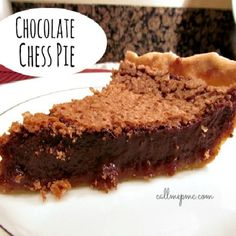 Chocolate Chess Pie a twist on the Southern classi Chess Pie. This pie is rich, creamy and chocolatey and sure to become a new family favorite!