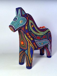 Beaded mosaic, Cheval by Christine Brallier, #mosaics #beads #art #christinebrallier #horse