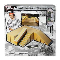 Teck Deck - Paul Rodriguez Skate Lab - Left Stairs and Kicker Obstacle