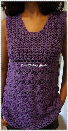 Sweet Nothings Crochet Purple Orchid Top