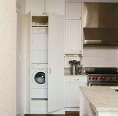 Combined Laundry Room and Kitchen