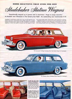Studebaker 1955 brochure page 8.