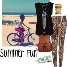 """""""Summer fun"""" by leonaaamartin on Polyvore"""