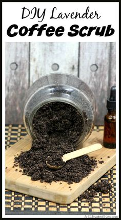 This DIY lavender coffee scrub will leave your skin healthy, smooth, and soft, and it smells great!