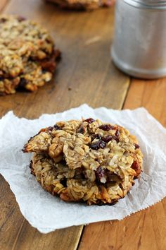 Gluten Free Cranberry Walnut Breakfast Cookies