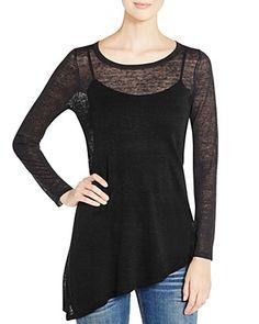 Eileen Fisher Sheer Asymmetric Sweater