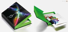 presentation brochures with hard cased boxes