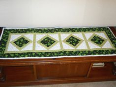 St Patricks Table Runner  Quilted Table Topper  by SarahPixel, $40.00