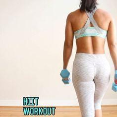 "7,798 Likes, 136 Comments - Carmen Morgan (@mytrainercarmen) on Instagram: ""HIIT WorkoutI'm using 10lb dbs. . 20 Sec Work, 10 Sec Rest 1️⃣Squat Hop Curl 2️⃣Lunge Knee…"""