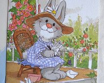 Vintage Greeting Card - Suzy's Zoo Bunny Rabbit - Thinking of You Unused