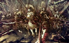 """Polish Hussars The cavalry of Polish Army between the and centuries. Work from two years to the game """"Fire and Sword """" Polish Hussars 16th Century, Best Funny Pictures, Fiction, Canvas Prints, National Geographic, In This Moment, Memes, Knights, Warriors"""