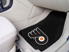 "NHL - Philadelphia Flyers 2-pc Carpet Car Mat Set 17"""" X 27"""""