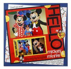 #Disney Mickey Mouse #Scrapbooking Layout Idea