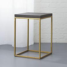 CB2: zemi side table-stool. for living room refresh. end table option $119