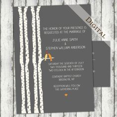 Hey, I found this really awesome Etsy listing at http://www.etsy.com/listing/151449286/wedding-invitationrsvp-birch-tree-with