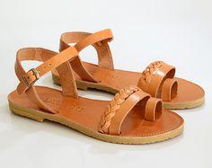 Griego, sandalias gladiador, sandalias de cuero, sandalias, Handbraded las mujeres, sandalias de verano, DALIDA