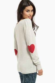 Heart on My Sleeves Sweater $35 at www.tobi.com