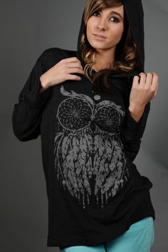 Dream Owl Hoodie:) #LHDCclothing www.LHDC.com