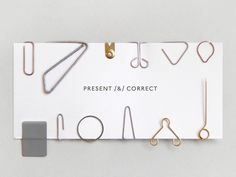 Clip Strip - For the love of paperclips, acard featuring a selection of new & old designs. All different, 12 in total. Presented in a glassine envelope. Present & Correct