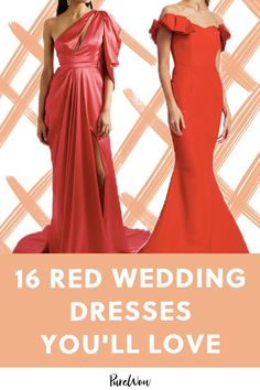 16 Red Wedding Dresses That Are Changing the Bridal Game planning Red Wedding Dresses, Wedding Colors, Wedding Gowns, Autumn Wedding, Spring Wedding, Bridal Games, Wedding Trends, Wedding Ideas, Alternative Wedding Dresses