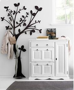 Portemanteau en stikers tendance chic et originale by helline - Porte manteau design arbre ...