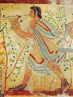 Double Flute Player from the Tomb of the Leopards, Tarquinia