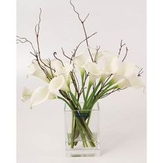 Calla Lily Artificial Flower Arrangement White - CLV009