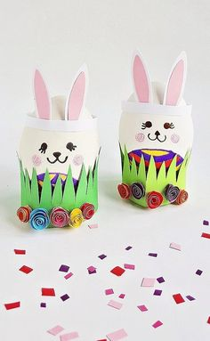 Cute and easy easter egg bunny craft - hello wonderful Bunny Crafts, Easter Crafts, Easter Ideas, Crafts For Teens, Projects For Kids, Easter Egg Template, Colour Paper Flowers, Craft Wedding, Wedding Table