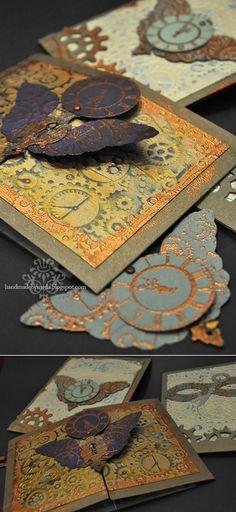 Steampunk Birthday Party Invitations - Handmade by Meda