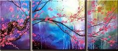 cherry blossom panel group art for sale at Toperfect gallery. Buy the cherry blossom panel group oil painting in Factory Price. All Paintings are Satisfaction Guaranteed Oil Painting Flowers, Oil Painting On Canvas, Pinterest Pinturas, Most Famous Paintings, Art Paintings, Plum Flowers, Diy Canvas, Abstract Wall Art, Painting Inspiration