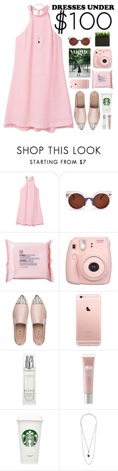 """blush pink"" by jennk-995 ❤ liked on Polyvore featuring MANGO, Fendi, The Body Shop, Fujifilm, Miu Miu, The White Company, Origins and Topshop"
