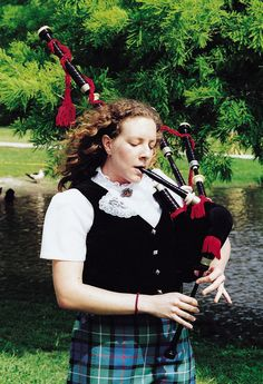 girls can play them too.   .......Bagpipes