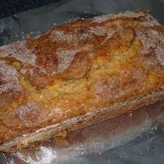Amish Cinnamon Bread (DH: used Blue Bonnet Light and plain soy milk to make it dairy-free)