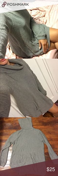 Grey turtleneck sweater dress Can be worn as a turtleneck sweater dress or just sweater with leggings. I'm 5'8 so it hits me above the knee but for anyone shorter it would definitely fit longer. The fabric is Cotton and rayon so it's super soft. NO PILLING. Barely worn! Size is larger because I wanted a loose fit but it can be worn by anyone of any size. The color is true grey. Depending on the lighting it can look either light grey or charcoal. I AM WILLING TO DISCOUNT SO THAT YOU CAN GET…